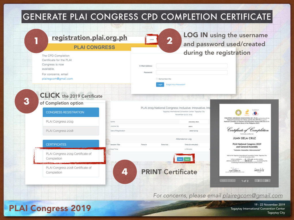 CPD Certificate Instructions